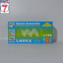 Gants LATEX taille L boîte...